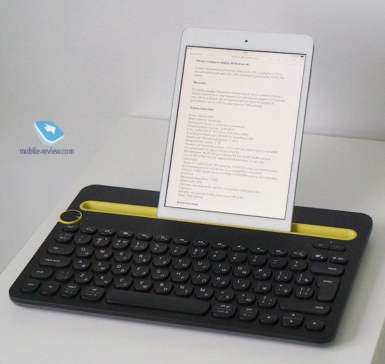 Macally Lightning Wired Keyboard for iPad and iPhone