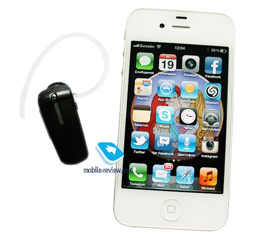 Гарнитура может работать одновременно с двумя телефонами, схема подключения стандартная: сперва подключаем первый...