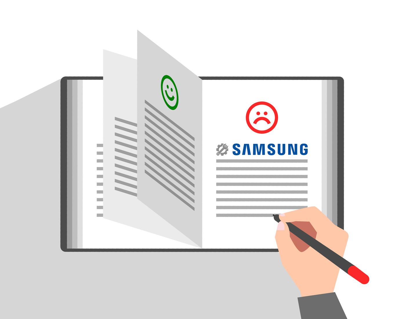 Книга жалоб. Сервисный центр Samsung во флагманском магазине