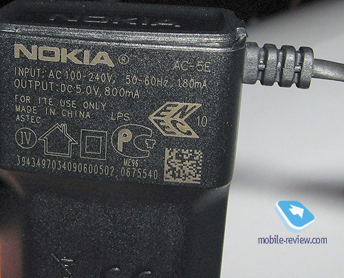 Маркировка NOKIA AC-5E (ориг.)