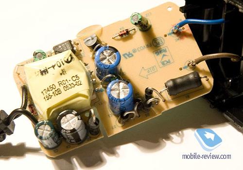 Печатная плата зарядного устройства Motorola, вид сверху.