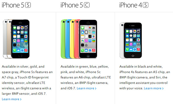 модели iphone 5