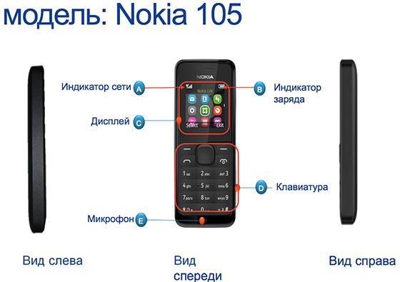 схема nokia 105