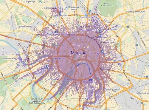 Сегодня покрытие Москвы по