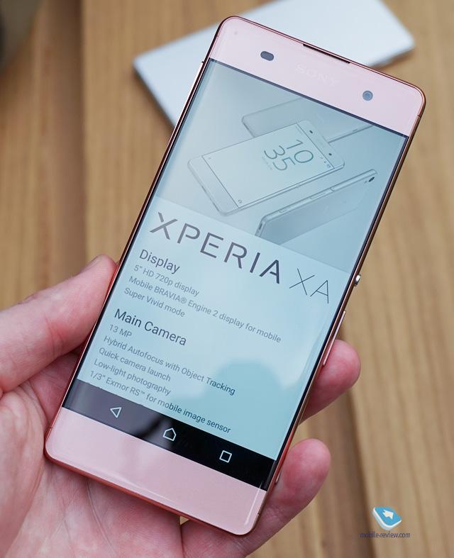 Mobile-review.com Sony Xperia XA - первый взгляд Up Arrow Image