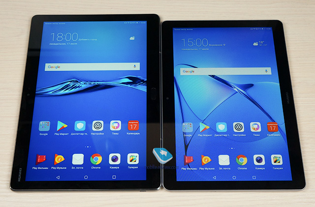 Обзор-сравнение планшетов Huawei MediaPad M3 Lite 10 и T3 10