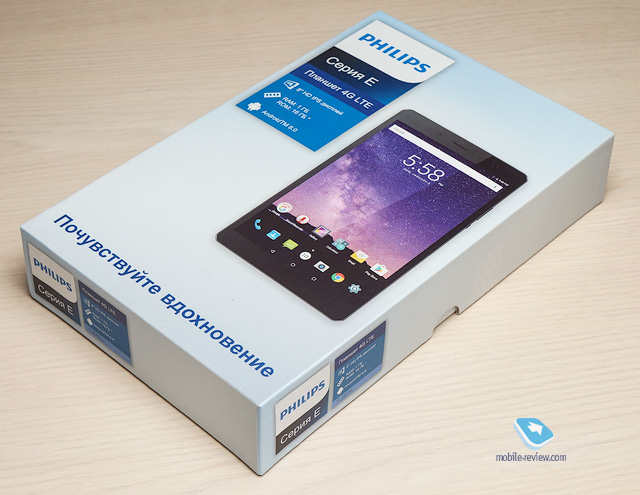 Обзор планшета Philips TLE821L