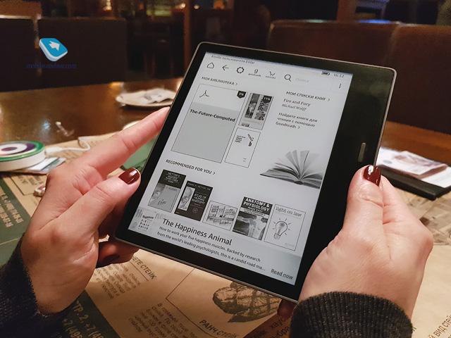Обзор электронной книги Amazon Kindle Oasis 2017