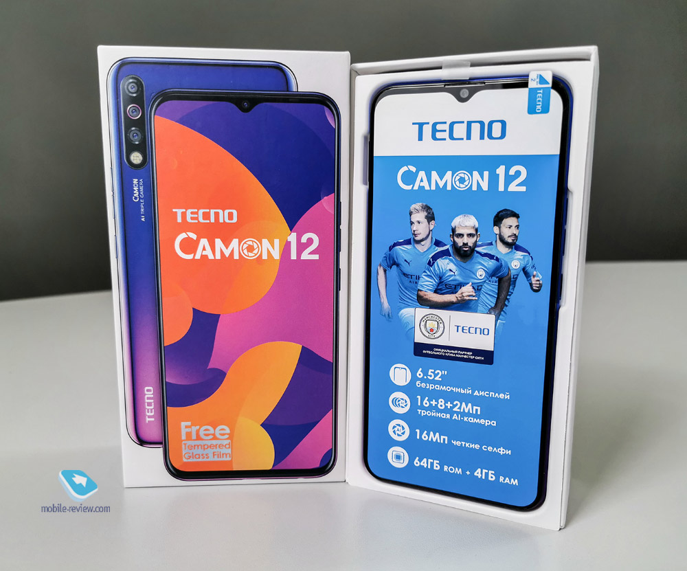 Tecno CAMON 12: впечатляющий смартфон до 10 000 рублей