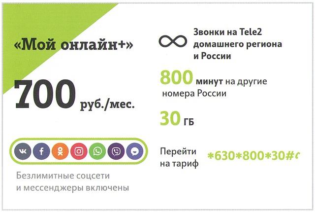Tele2, «Умный тариф»