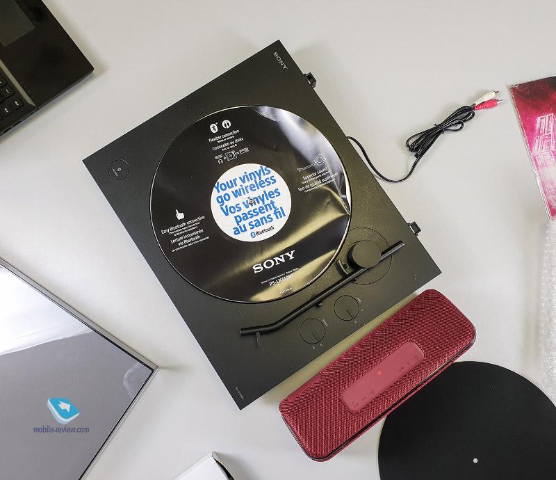 Распаковка винилового проигрывателя Sony PS-LX310BT и колонки Sony XB41 EXTRA BASS