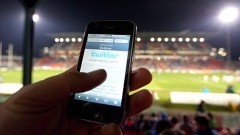 NEWCASTLE, AUSTRALIA - JULY 11:  In this photo illustration the Twitter website is displayed on a mobile phone at a NRL match on July 11, 2009 in Newcastle, Australia. The micro-blogging phenomenon sees users post text 'tweets' of upto 140 characters in response to the question 'What are you doing?'. (Photo by Cameron Spencer/Getty Images)