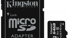 microSD Industrial Temp Card UHS-I 64GB with Adapter_SDCIT_64GB_