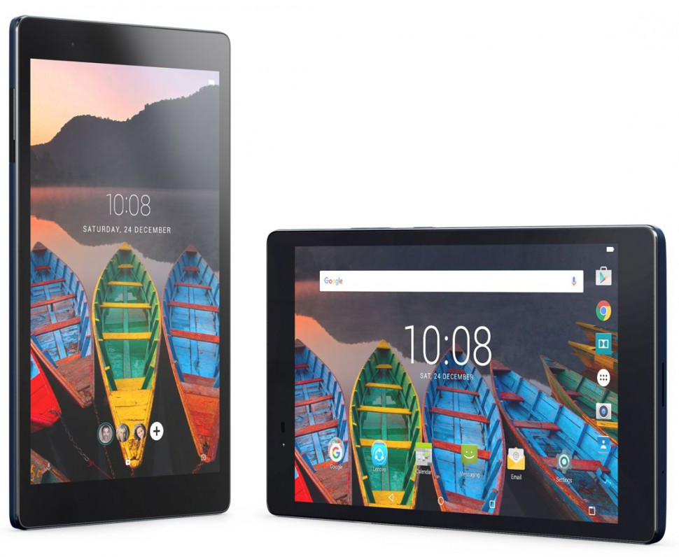 25_TAB3_8INCH_PLUS_Hero_Silver_Lock_And_Home_Screen_Blue