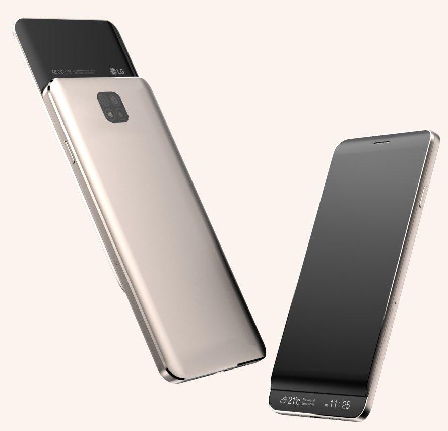 СмартфонLG V30 получит 2-ой выдвижной дисплей