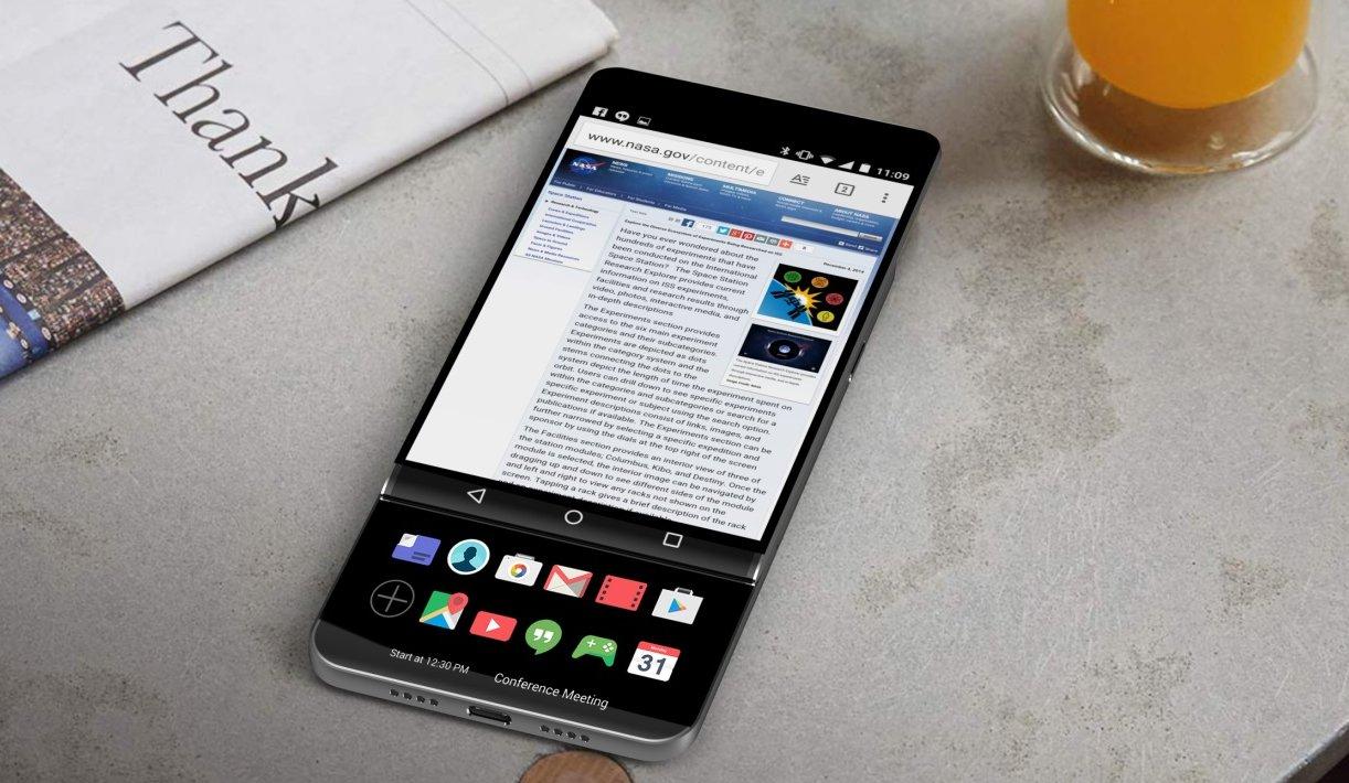 НовыйLG V30 предстанет как слайдер с 2-мя тачпадами