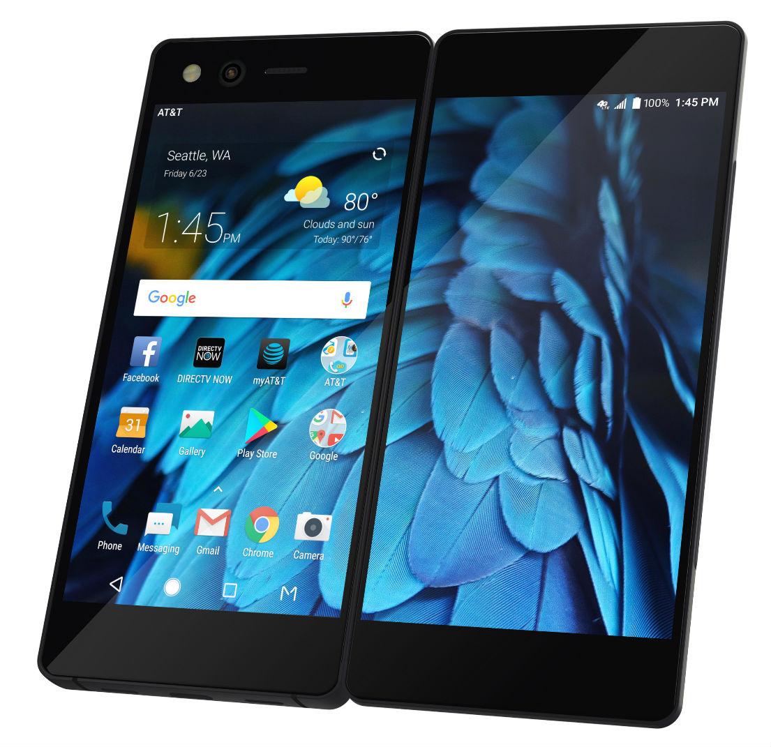 ZTE представила смартфон с 2-мя дисплеями