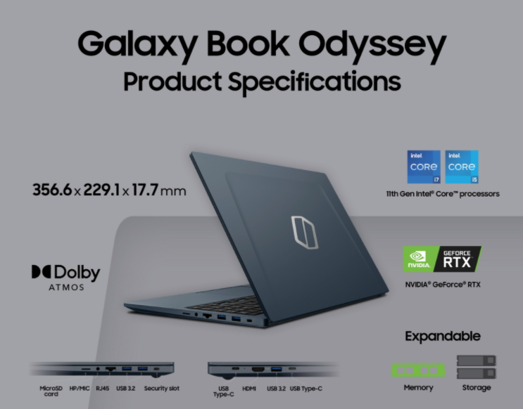 Samsung представила неожиданную новинку Galaxy Book Odyssey