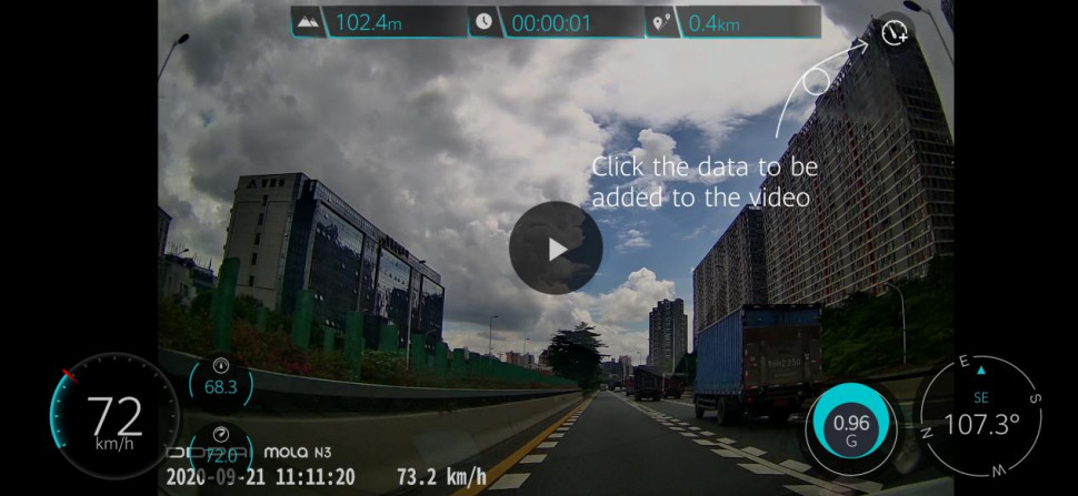DDPai Dash Cam video