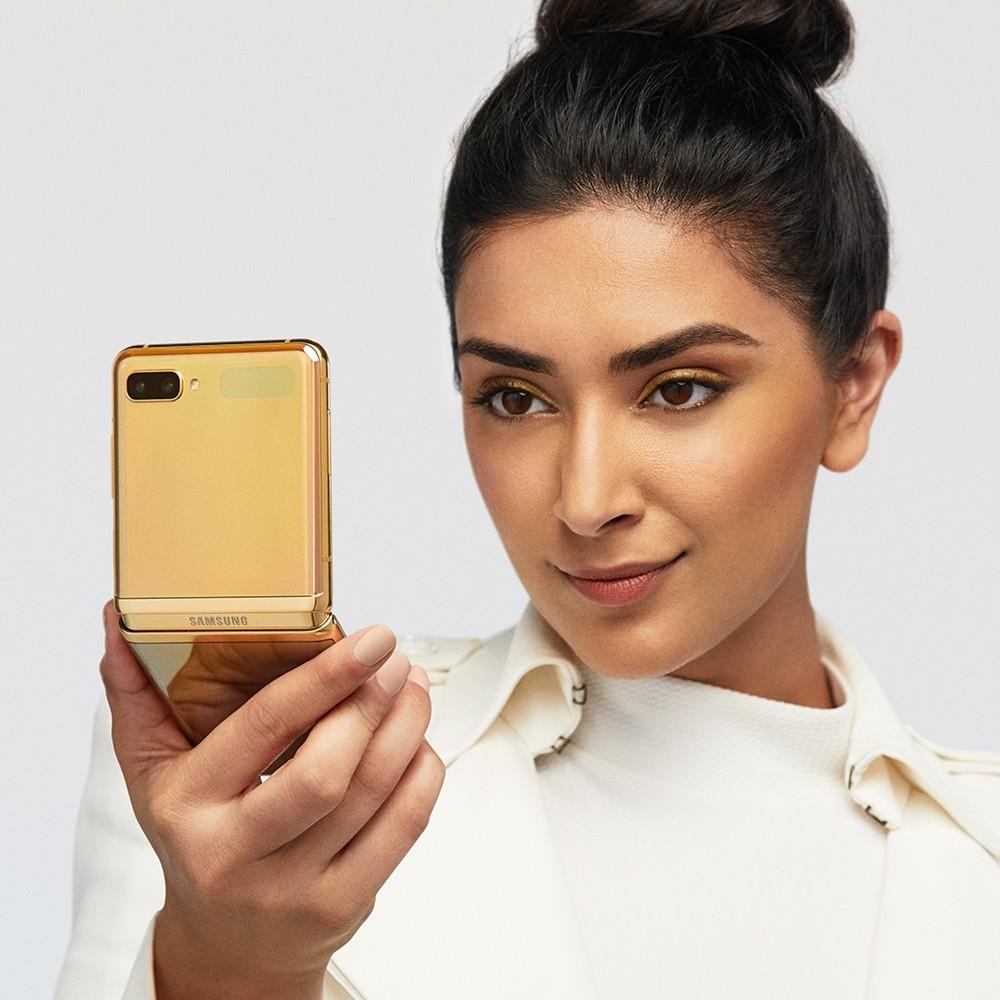 Galaxy Z Flip Mirror Gold 1