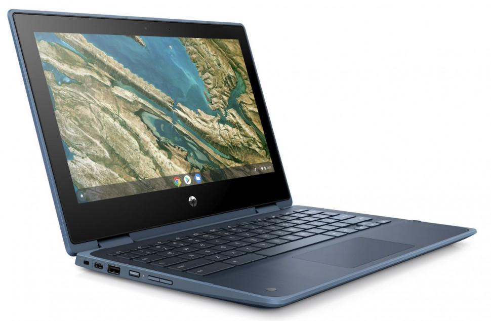 HP Chromebook 11 x360 G3 EE_Dusk Blue_Front Right