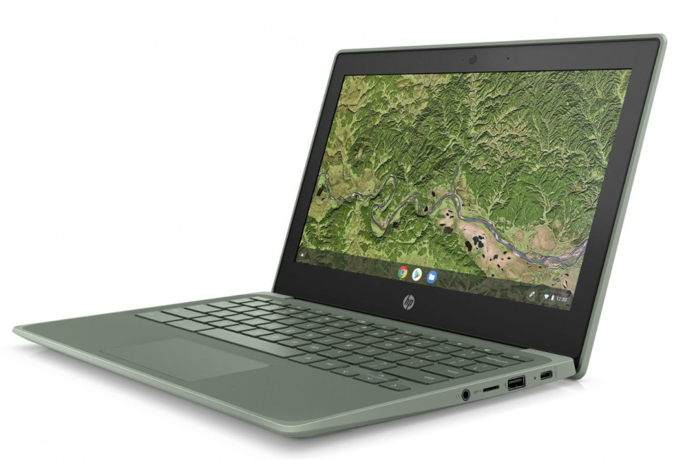 HP Chromebook 11A G8 EE_Sage Green_FrontLeft