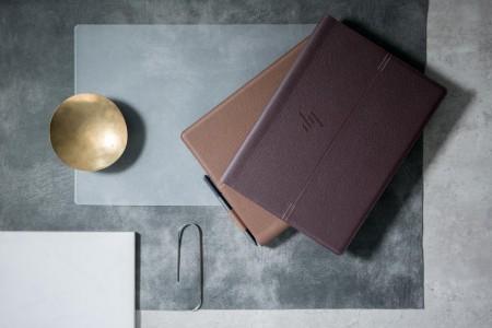 HP Spectre Folio Cognac Brown & Bordeaux Burgundy 1