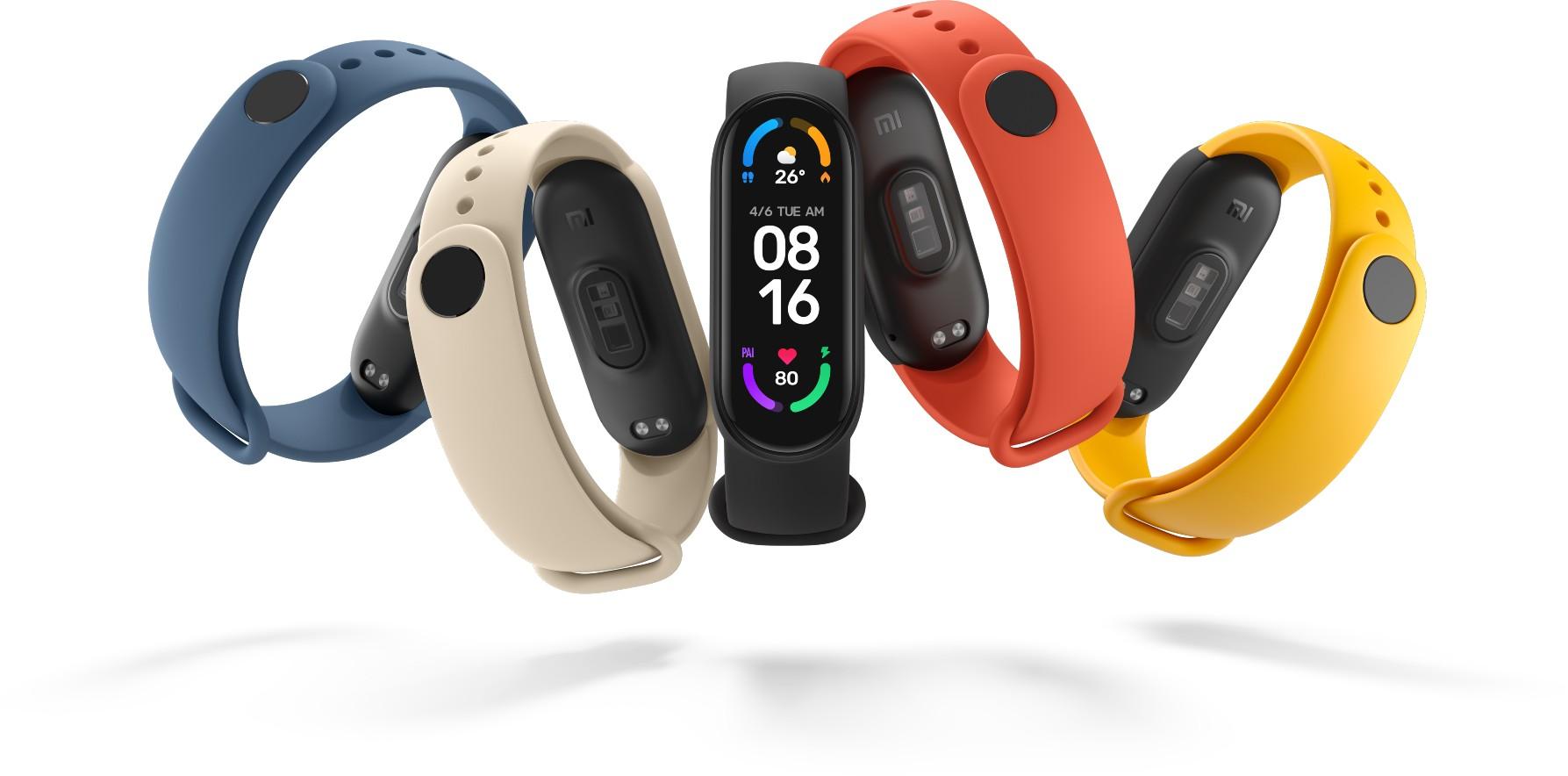Xiaomi представила новое поколение финтнес-браслетов – Mi Smart Band 6