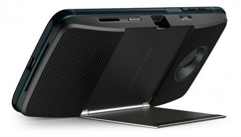MotoZ3Play - Deep Indigo - Laydown Projector - Dyn Backside Right