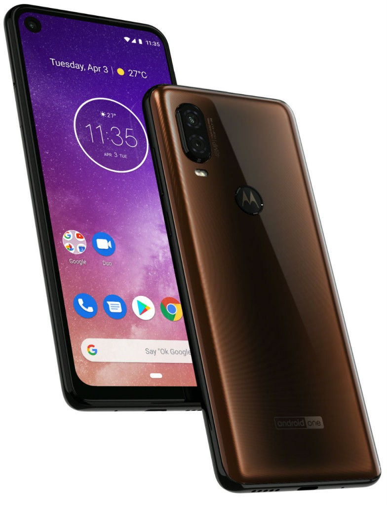 Motorola one Vision_ROW_Bronze Gradient_PDP Hero