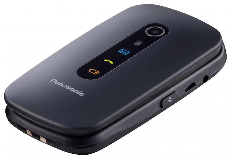Panasonic-Seniorentelefon-KX-TU466-EXBE-schwarz-slant