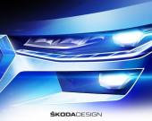 SKODA представляет первые три эскиза обновленного KODIAQ (2)