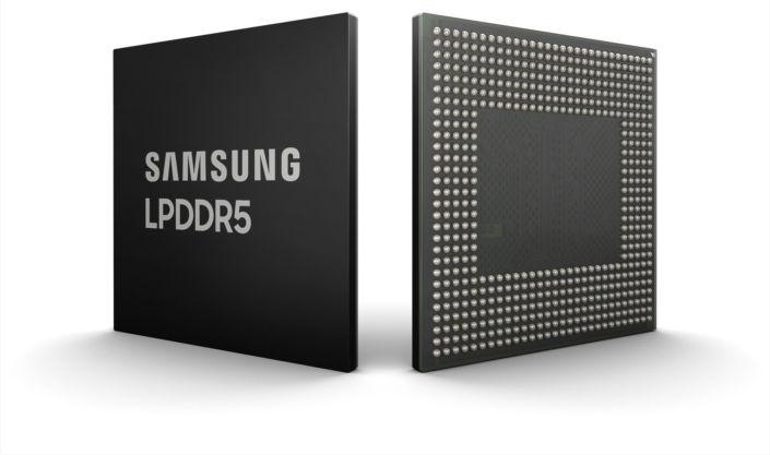 Самсунг разработала 8-гигабитную память LPDDR5 DRAM для мобильных применений