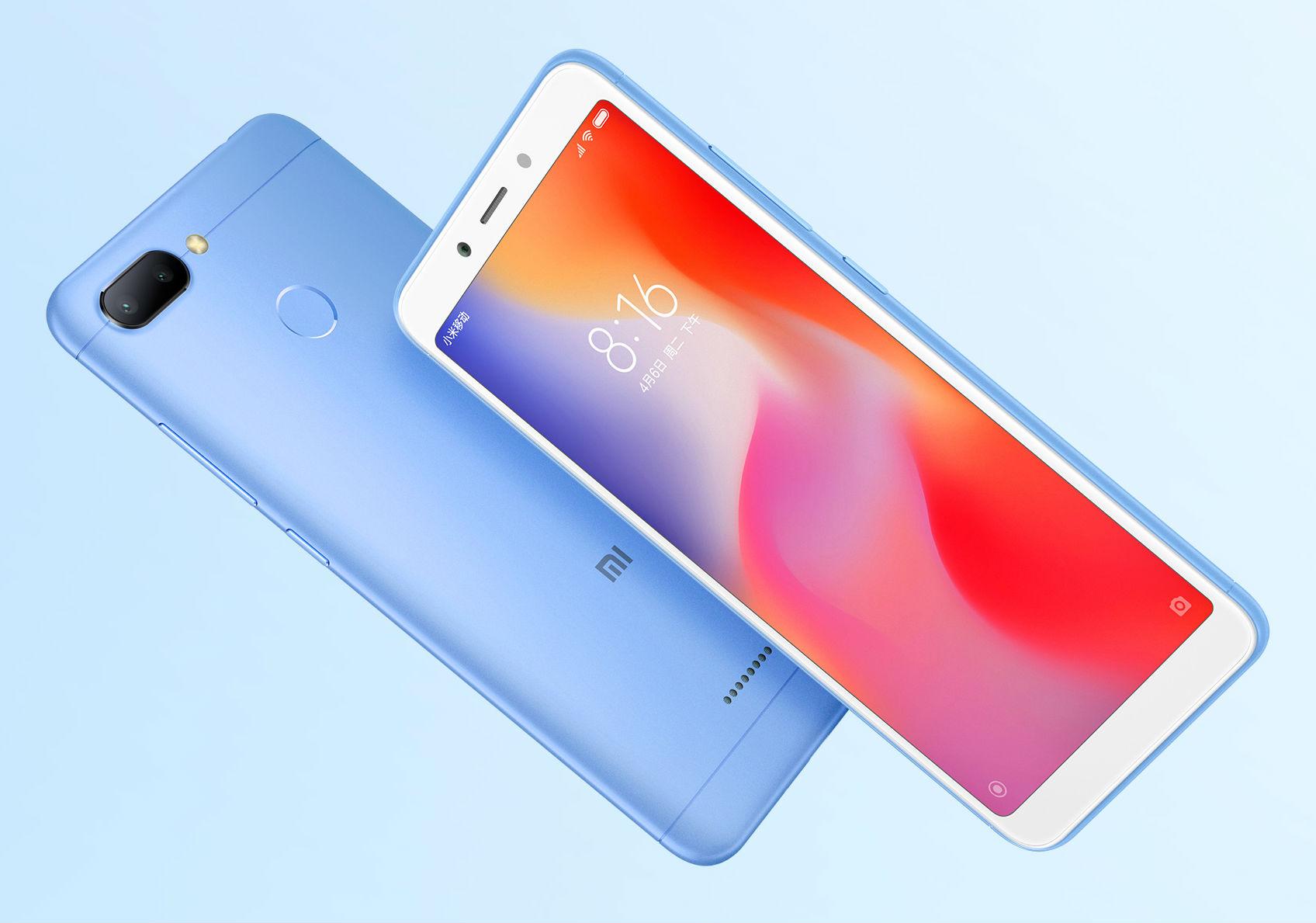 98a328da2c56f Xiaomi представила недорогой смартфон с двойной камерой – Redmi 6 ...