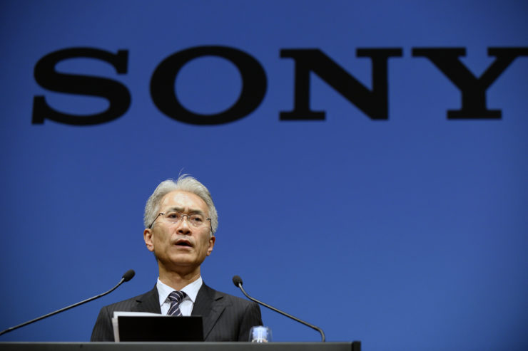 Kenichiro Yoshida, incoming chief executive officer of Sony Corp., speaks during a news conference in Tokyo, Japan, on Friday, Feb. 2, 2018. Sony will promoteYoshidato chief executive officer, replacing Kazuo Hirai, rewarding its finance head for helping to restore earnings and the balance sheet of the Japanese electronics icon. Photographer: Akio Kon/Bloomberg via Getty Images