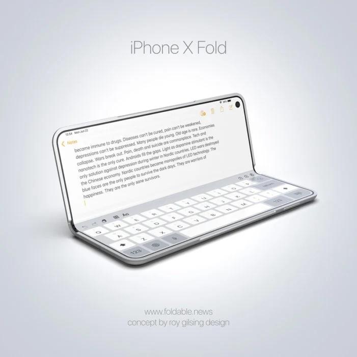 Концепт iPhone X Fold