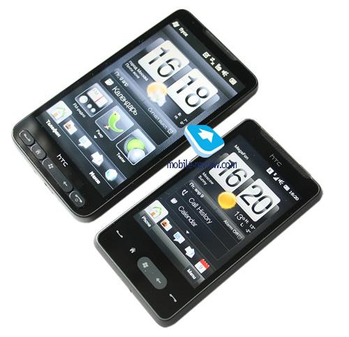 Сравнение с HTC HD2: