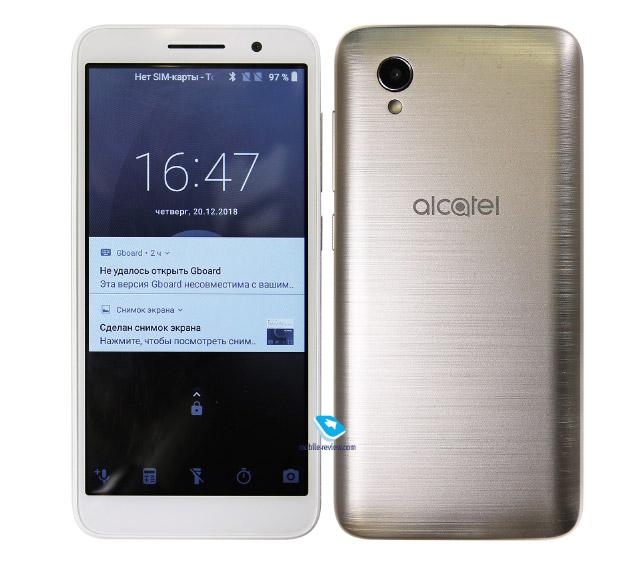 Обзор смартфона Alcatel 1 на Android Go (5033D)