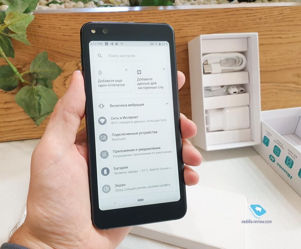 Обзор смартфона с двумя экранами Hisense A6