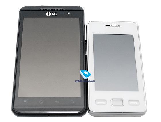Внешний вид HTC EVO 3D (слева)