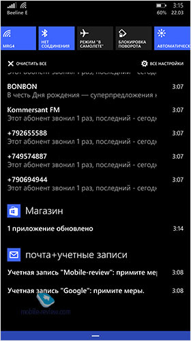 Обзор Windows Phone 8.1
