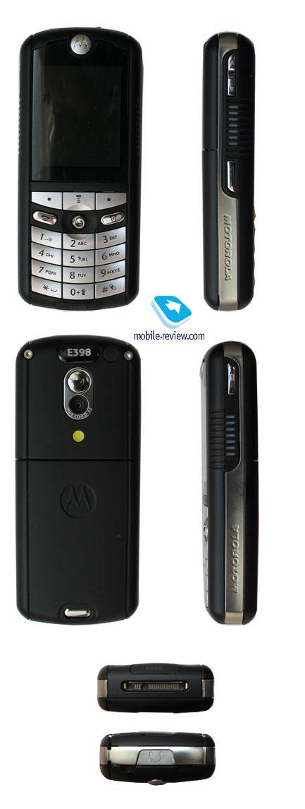 Тест Обзор GSM-телефона Motorola E398.