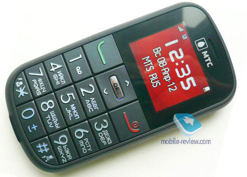 Телефон с буквами на отдельных кнопках