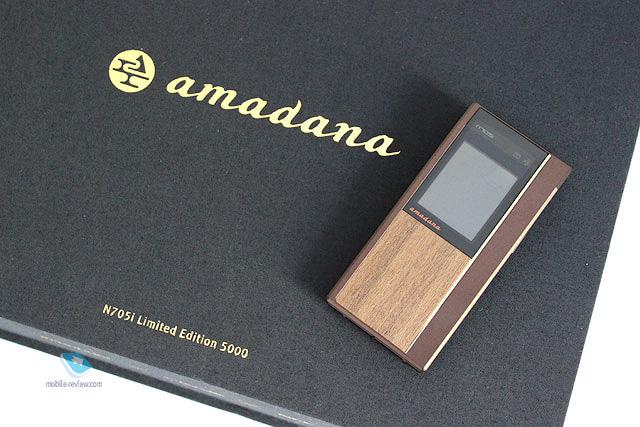 Обзор телефона NEC Docomo N705i Amadana Limited Edition