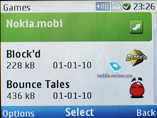 Mobile review com Review of Nokia C GSM phone Games are represented by ...