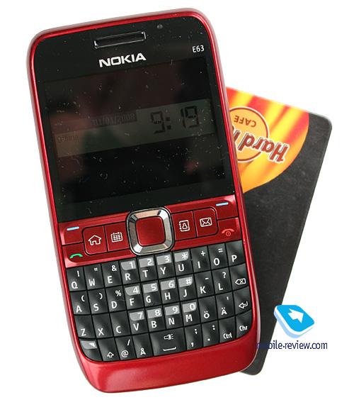 Nokia E63 Blue Mobile-review.com Об...