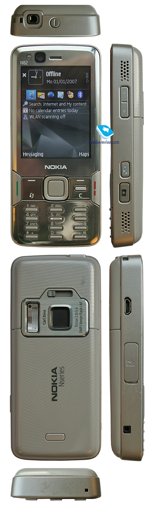 all face Nokia N82 And Sony Ericsson K850i a Close Look