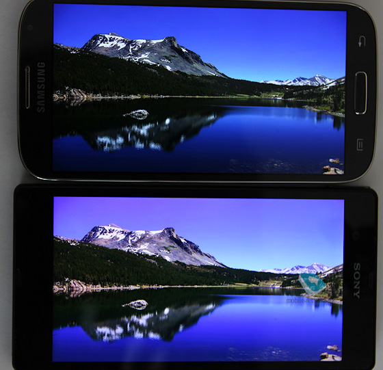 Сравнение экранов Samsung Galaxy S IV и Sony Xperia Z
