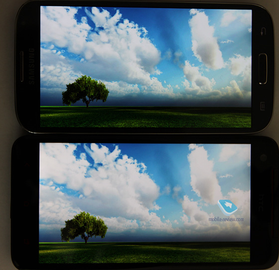 Сравнение экранов Samsung Galaxy S IV и HTC Butterfly