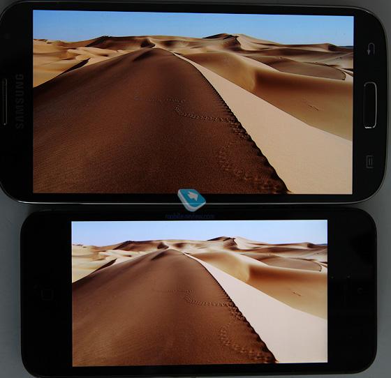 Сравнение экранов Samsung Galaxy S IV и Apple iPhone 5